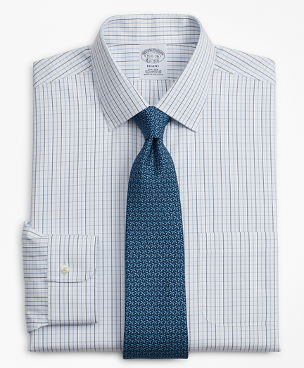 Regent Fitted Dress Shirt, Non-Iron Grid Check
