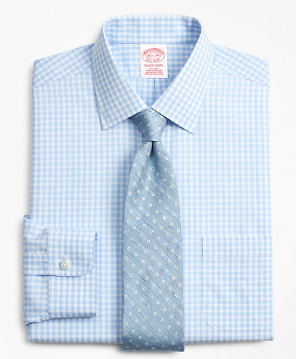 Traditional Relaxed-Fit Dress Shirt, Non-Iron Check