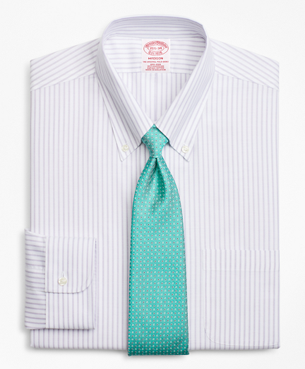 BrooksCool Madison Classic-Fit Dress Shirt, Non-Iron Stripe