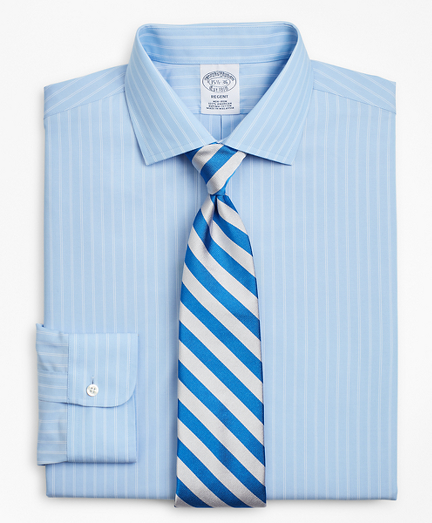 Regent Fitted Dress Shirt, Non-Iron Double-Stripe
