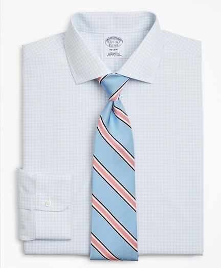 Regent Fitted Dress Shirt, Non-Iron Triple-Windowpane