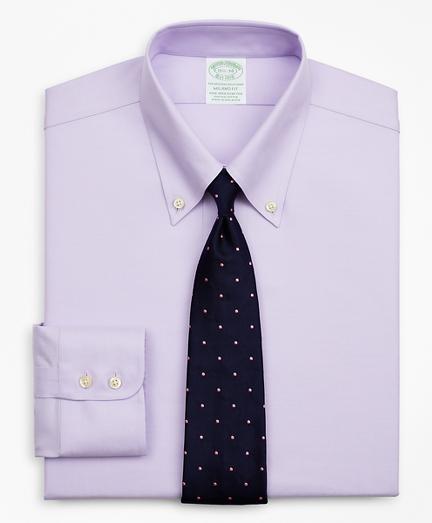 Stretch Milano Slim-Fit Dress Shirt, Non-Iron Twill Button-Down Collar