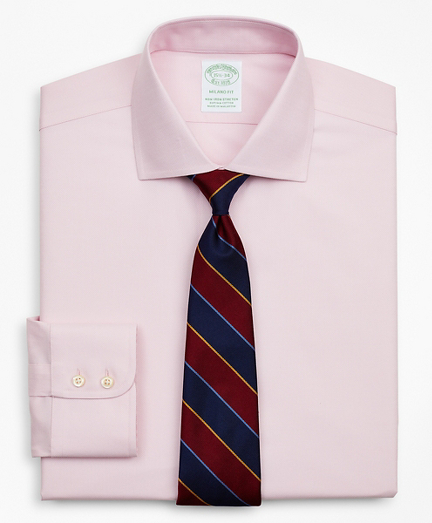 Stretch Milano Slim-Fit Dress Shirt, Non-Iron Royal Oxford English Collar
