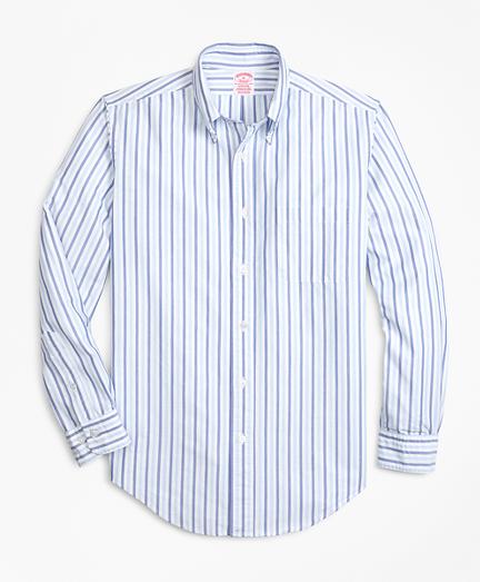 Oxford Alternating Stripe Sport Shirt