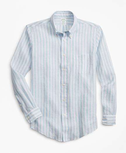 Stripe Irish Linen Sport Shirt
