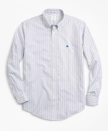 Non-Iron Milano Fit Stripe Dobby Sport Shirt