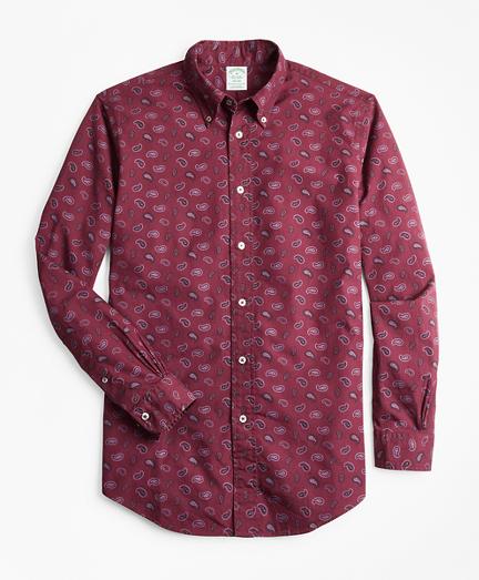 Milano Fit Paisley Print Sport Shirt