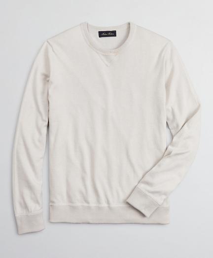 Golden Fleece 3-D Knit Cotton-Cashmere-Silk Crewneck Sweater