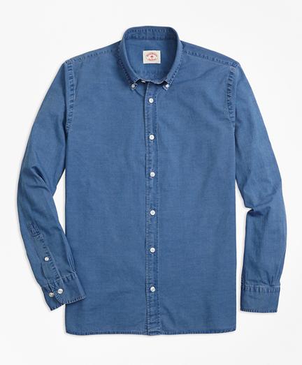 Indigo-Dyed Cotton Chambray Sport Shirt