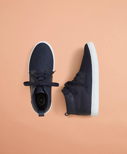 High-Top Denim Sneakers