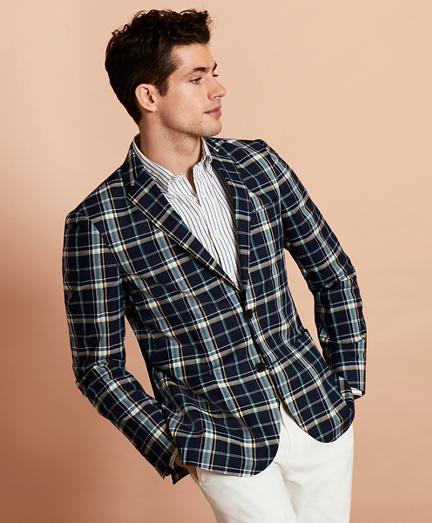 Madras Cotton Two-Button Sport Coat