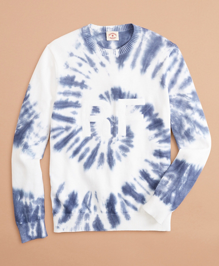 Graphic Tie-Dyed Cotton Sweater