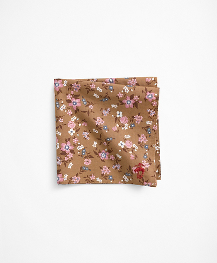 Cotton Geometric Flower Pocket Square
