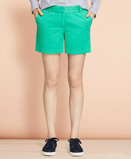 Brooksbrothers Stretch Cotton Twill Shorts
