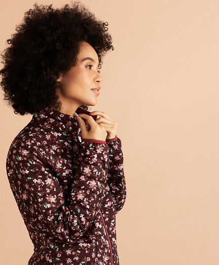 Reversible Floral-Print Puffer Jacket