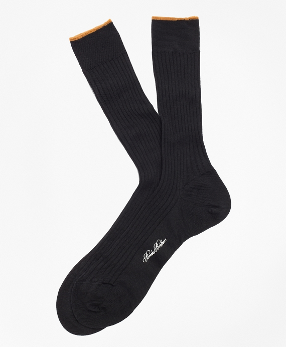 Merino Wool Sized Crew Socks Black