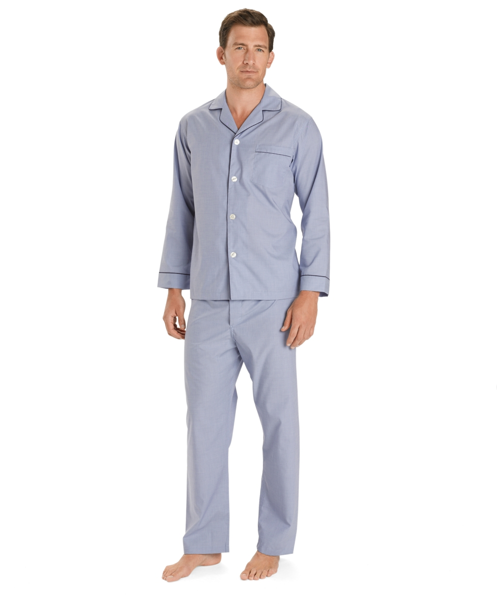 Men s Wrinkle-Resistant Broadcloth Pajamas  3d7af2563