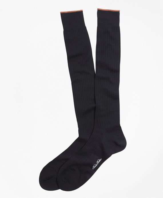 Merino Wool Sized Over-the-Calf Socks Black