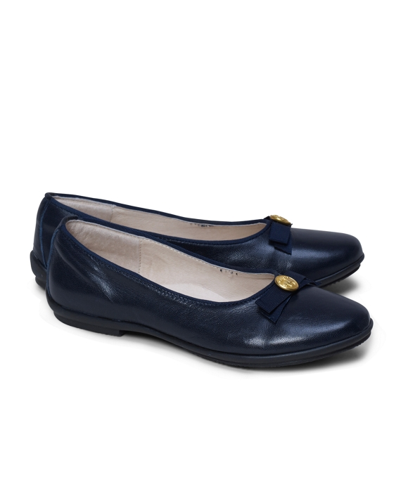 Girls Ballet Flats Navy