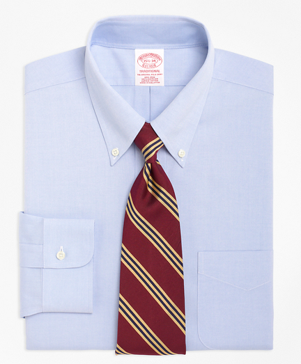 Traditional Relaxed-Fit Dress Shirt, Non-Iron Button-Down Collar