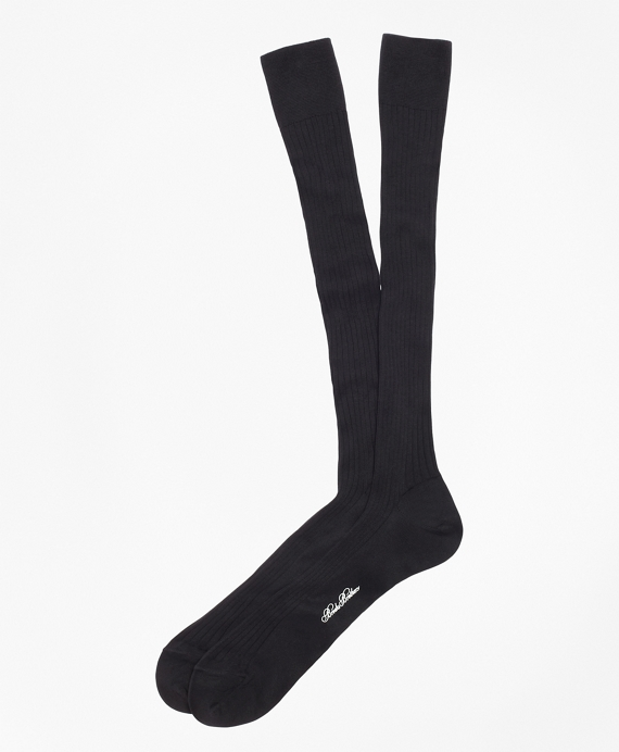 Pima Sized Over-the-Calf Socks Black