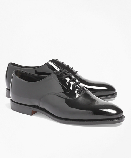 Black Patent Lace-Ups