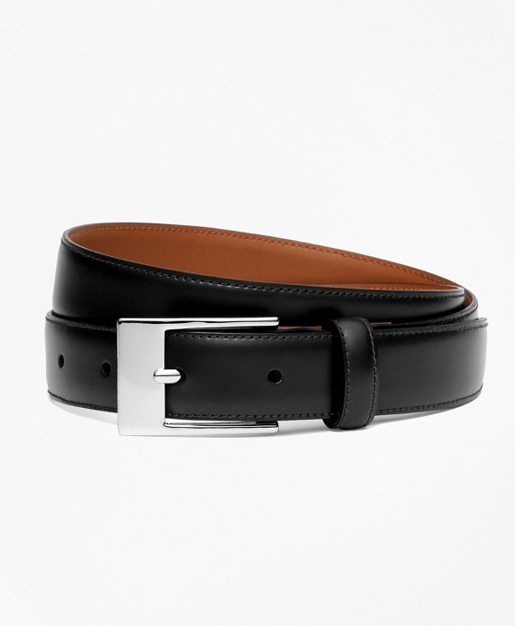 Boys Classic Leather Belt Black