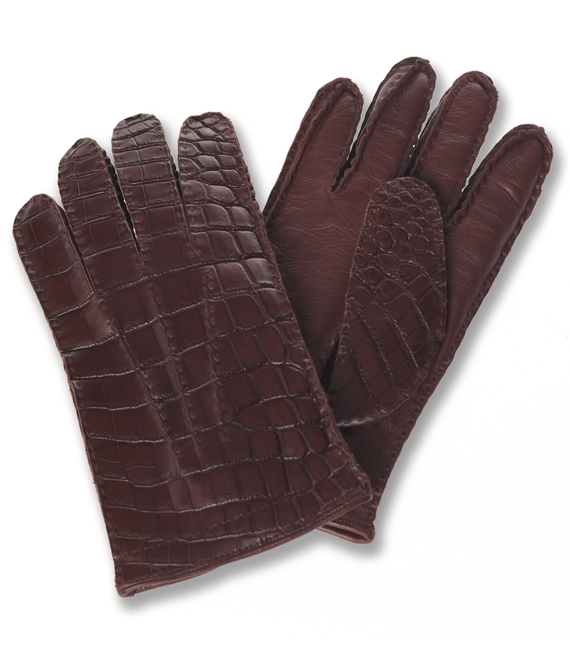 Alligator Gloves Brown
