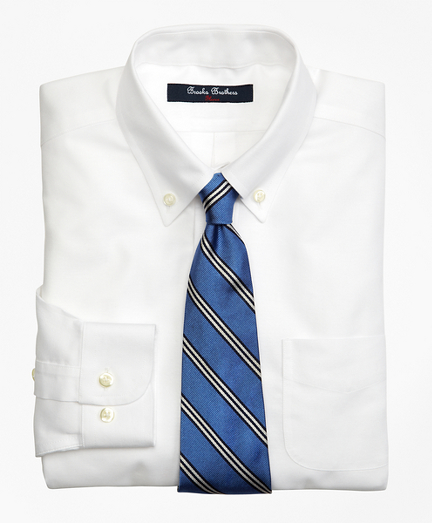 Boys Non-Iron Supima® Oxford Polo Button-Down Dress Shirt
