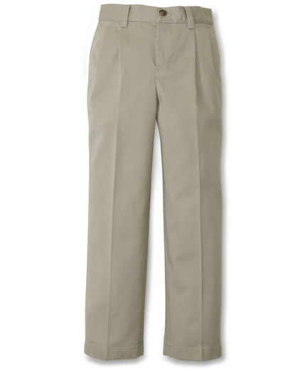 Boy's Pleat-front Non-Iron Chinos