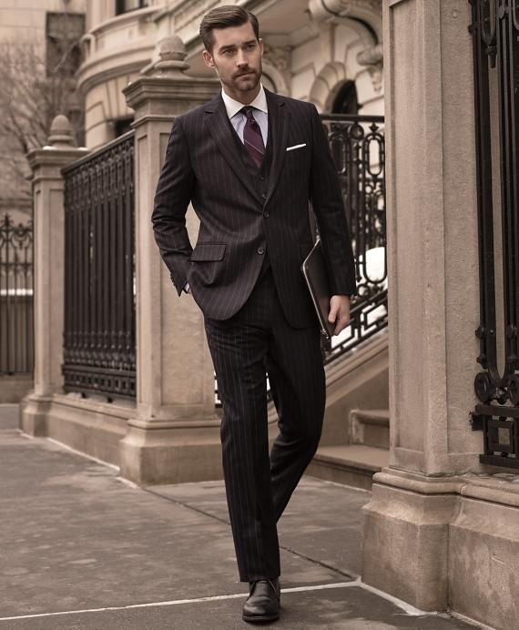 2ea62e824c7 Men's Non-Iron Slim Fit Contrast Collar French Cuff Dress Shirt ...