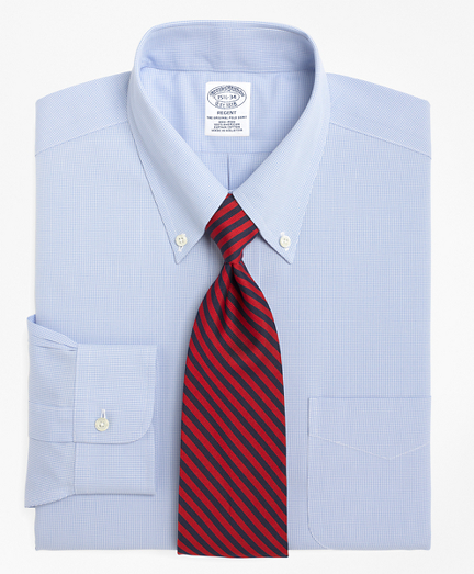 Regent Regular-Fit Dress Shirt,  Non-Iron Houndstooth