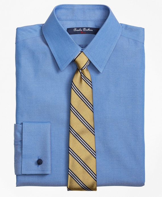 Boys Non-Iron Supima® Pinpoint Cotton French Cuff Dress Shirt Blue