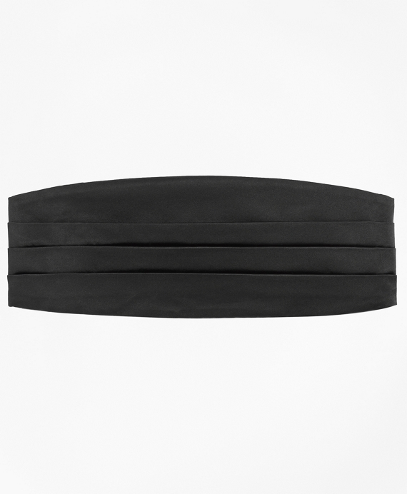 Four-Pleat Cummerbund Black