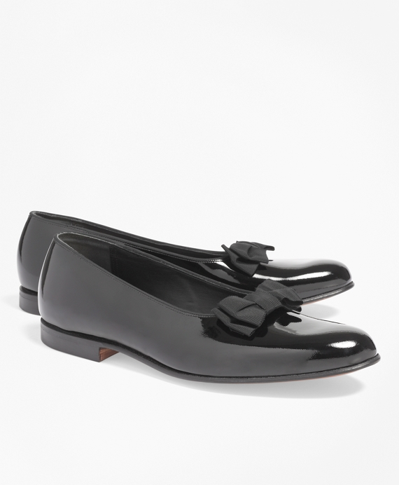 Formal Pumps with Grosgrain Ribbon Bow Black