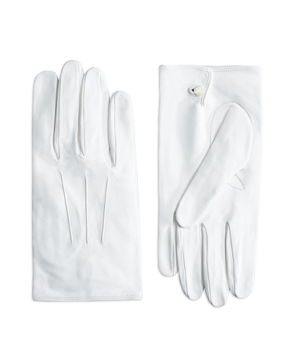 Edwardian Men's Accessories Brooks Brothers Mens White Formal Gloves $148.00 AT vintagedancer.com