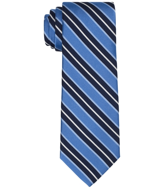 Natte and Satin Large BB#2 Bar Stripe Tie Blue