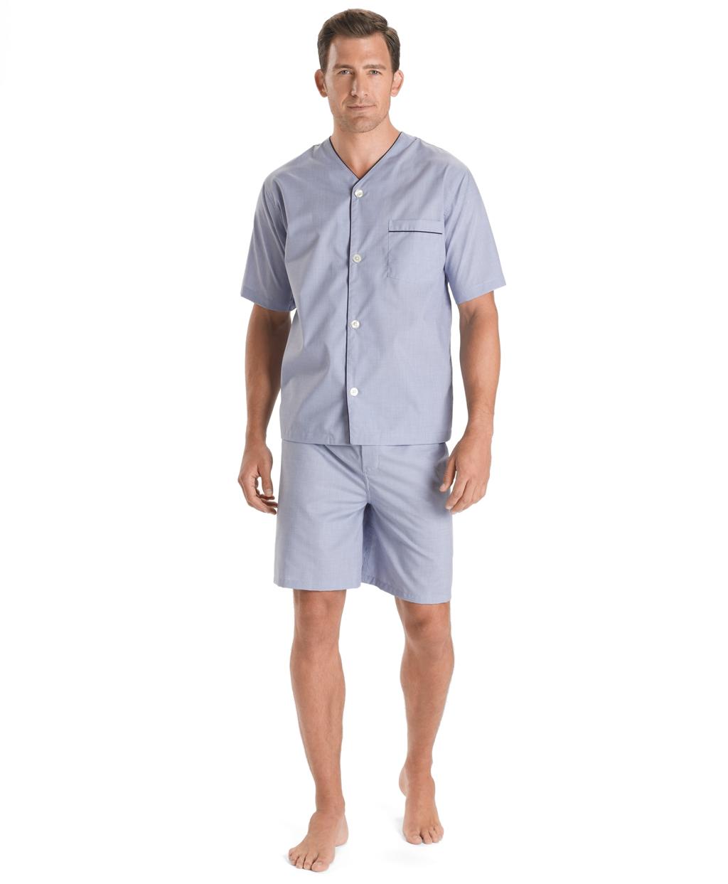 1940s Men's Underwear: Briefs, Boxers, Unions, & Socks Brooks Brothers Mens Wrinkle-Resistant Short Pajamas $55.65 AT vintagedancer.com