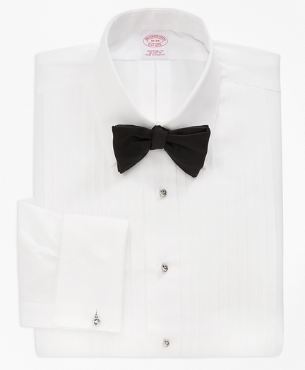 Traditional Fit Ten-Pleat Tennis Collar Tuxedo Shirt