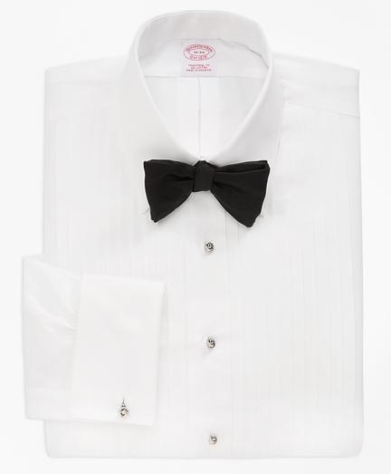 Traditional Fit Ten-Pleat Tennis Collar Tuxedo Shirt