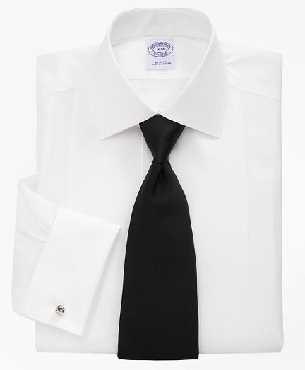 Bib-Front Spread Collar Tuxedo Shirt