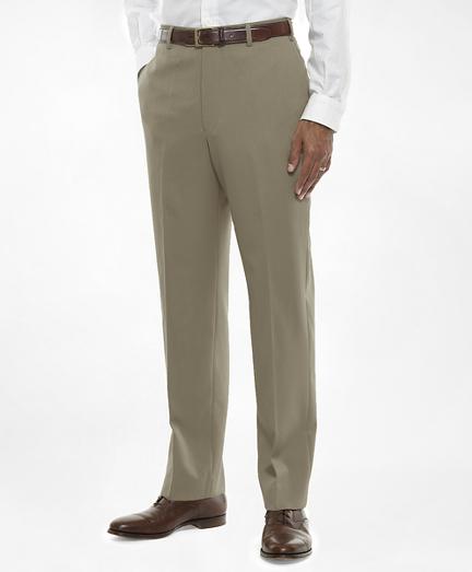 Regent Fit Flat-Front Classic Gabardine Trousers