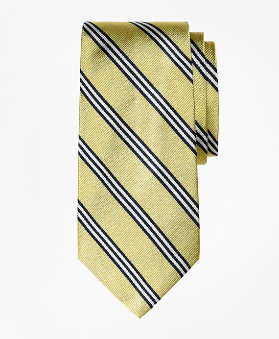 Boys BB#1 Stripe Tie Gold