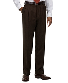 Madison Fit Pleat-Front Covert Twill Trousers