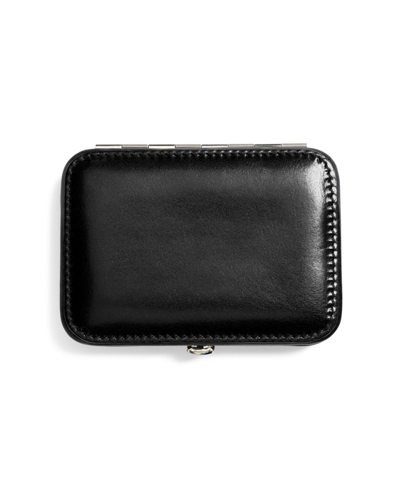 leather business card case black - Leather Business Card Case