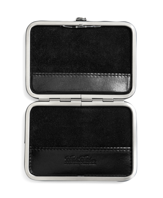 Leather business card case brooks brothers black black reheart Images