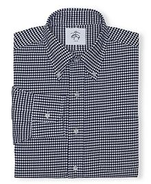 Black Fleece Gingham Button-Down Shirt