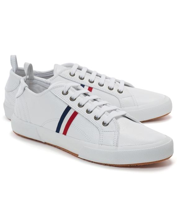 7d60c3af39872 Black Fleece Leather Sneakers - Brooks Brothers