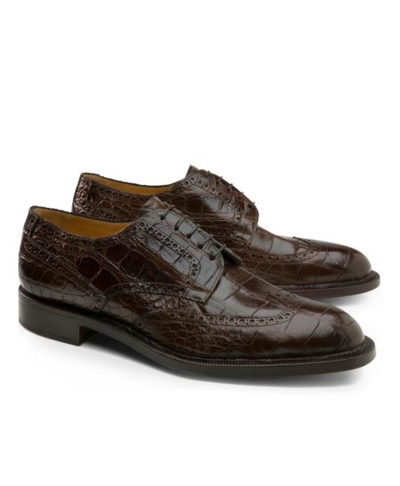 51293fd3aec Men's Genuine American Alligator Lace-Up Wingtips | Brooks Brothers