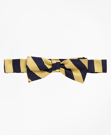 Boys Guard Striped Bow Tie